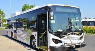 Un bus électrique franco-québécois testé à Terrebonne